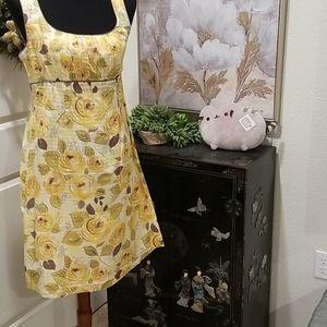 RARE CAbi Yellow Floral Dress 499